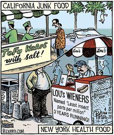#california junk vs. new york health food