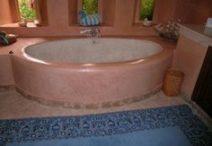 Tadelakt Stone Moroccan Original water resistant lime plaster from Marrakech Jacuzzi Tub, Bath Tub, Tadelakt, Natural Interior, Relaxation Room, Hearth And Home, Bathroom Spa, Earthship, Tiny House Plans