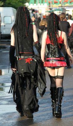 #Goth couple Grunge, Gothic Girls, Gothic Lolita, Dark Fashion, Gothic Fashion, Nu Goth, Cyberpunk, Goth Rave, Rockabilly