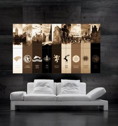 Game of Thrones HOUSES Poster print wall art big 10 by FamePosters. If my husband was a GOT fan, this would be in my house.