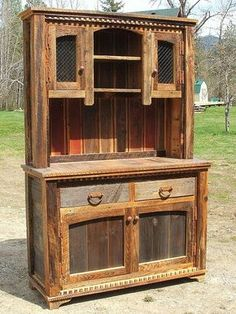 The Country Roads Reclaimed Wood Buffet & Hutch will add a rugged flair to your contemporary home, log cabin, rustic lodge, or western ranch home. Visit us online or call for more rustic furniture and decor.