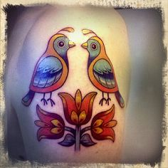 rosemaling inspired tattoo--its too big for me though but i like it
