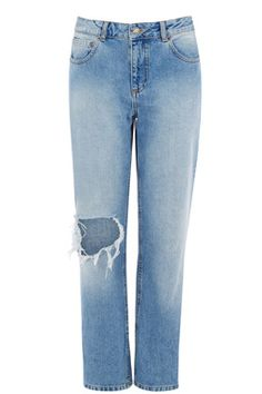 These relaxed-fit jeans are a style borrowed from the boys. This pair of jeans offer an authentically vintage feel, mid-rise and traditional five pocket-styling Boyfriend Jeans, Mom Jeans, Skinny Jeans, Dress Down Day, Grey Jeans, Denim, Clothes Shops, How To Wear, Pants