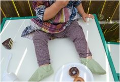 Feather's Flights: A Sewing Blog: Upcycled: Baby Leggings
