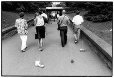 """Allan Kaprow (US), """"Taking a Shoe For A Walk"""", Bonn, Germany, 1989."""