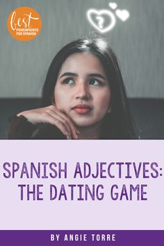 Students love #TheDatingGame and it's great comprehensible input for the #SpanishAdjectives. The ending is always so hilarious I can't get back to teaching I am laughing so hard. After teaching the adjectives, students choose whom they want to date based on six different descriptions. This activity cements the vocabulary of physical descriptions into the minds of the students. It improves students' reading, writing and listening skills as they write and hear descriptions of famous people. Spanish Games, Ap Spanish, Spanish Activities, Spanish Lessons, Comprehensible Input, French Teacher, Listening Skills, Dating Games, Student Engagement