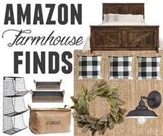 Sharing some of my favorite farmhouse inspired home decor finds from Amazon today on the blog!!!