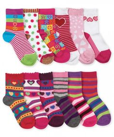Jefferies Socks Girl's Pattern Sock Assortment