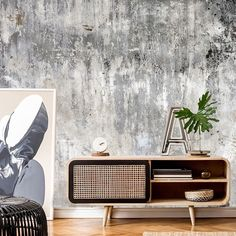 Go for the industrial look with a made to measure concrete wallpaper mural from Wallsauce. Featuring beautiful rust tones, this concrete effect wallpaper mural is sure to help you create a striking feature wall!  Simply add your measurements, crop the image as you like, select paste the wall or removable wallpapers and checkout.  Click on the link to discover the full range! Simple Living Room, Living Room Colors, Small Living, Living Rooms, Minimalist Home Interior, Home Interior Design, Interior Ideas, Interior Modern, Interior Inspiration