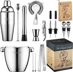 Kit Cocktail, Cocktail Shaker, Cocktail Drinks, Martini, Wine Gift Baskets, Basket Gift, Bar Tools, Bar Accessories, Fun Cocktails