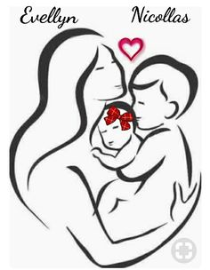 mother and two children tattoo Mommy Tattoos, Mother Tattoos, Baby Tattoos, Family Tattoos, Future Tattoos, Body Art Tattoos, Tatuajes Tattoos, Tatoos, Tattoos With Kids Names