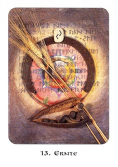 13. Harvest (Jera) - Rune Cards by Ralph Blum Illustrated by Jane Walmsley