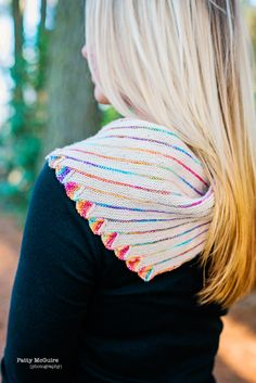 Endless Rainbow Shawlette Knitwear photography by Patty McGuire of PattyMac Photos