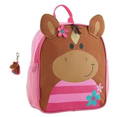 The Horse Mini Sidekick Backpack from Stephen Joseph features side mesh pockets and a cute pink horse design. This bag also features adjustable straps that are cushioned for maximum comfort. Baby Nursery Furniture, Nursery Room Decor, Horse Backpack, Kindergarten, Toddler Backpack, Horse Face, School Bags For Girls, Horse Girl, Kids Backpacks