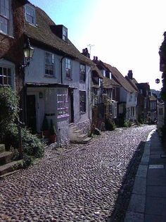 A street in Rye, UK....I walked down a street like this in Rye....likely this very one.
