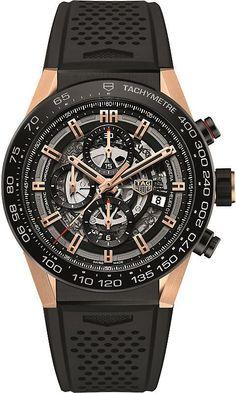 4dff70d269d Tag Heuer CAR2A5A.FT6044 Carrera titanium and rose-gold watch