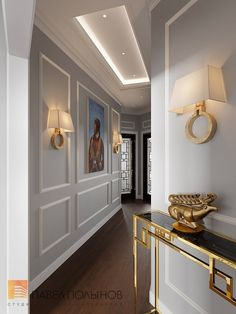 Фото интерьер холла из проекта «Интерьер трехкомнатной квартиры 96 кв.м. в ЖК «Привилегия», стиль нео-классика»