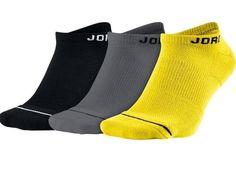 Nike Mens No Show Jumpman Jordan Black Gray Yellow Socks Gray Yellow, Black And Grey, Jumpman Jordans, Nike Michael Jordan, Nike Shoes For Boys, Yellow Socks, Nike Socks, Designer Socks, Nike Men
