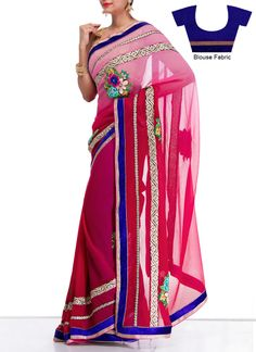 Appealing Pink #Georgette #Saree