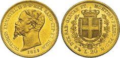 NumisBids: Numismatica Varesi s.a.s. Auction 65, Lot 626 : SAVOIA - VITTORIO EMANUELE II, Re di Sardegna (1849-1861) 20 Lire...