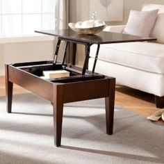 Turner Lift Top Coffee Table - Espresso by Finley Home. $159.99. Engineered wood construction with real wood veneers. Clean, angular design with parquet top inlay. As seen on the Today show!. Interior storage compartment with felt-lined bottom. Traditional lift-top coffee table with espresso finish. Keep all your books, magazines, pens, and games at your fingertips without cluttering up your coffee table! The Turner Lift Top Coffee Table - Espresso ...