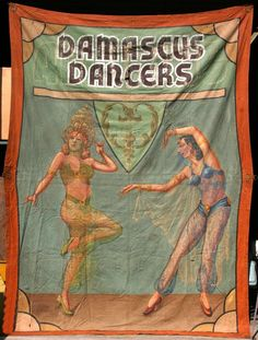Damascus Dancers Circus Sideshow Banner