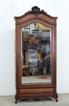 11599 1 : Antique French Louis XV Style Single Door Armoire Wardrobe