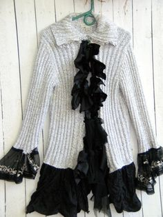 Reconstructed Shabby Chic Cardigan Small by JacketsbyJahne on Etsy, $82.00