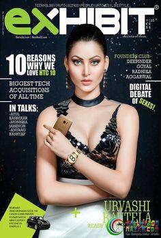 STUNNER URVASHI RAUTELA ON THE COVER OF EXHIBIT  #Bollywoodnazar #UrvashiRautela
