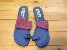 Women's Size 8 M Slip on Heels Shoe Purple Pink Erica Brooke #EricaBrooke #PumpsClassics