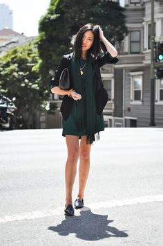 9to5Chic: Green & Black