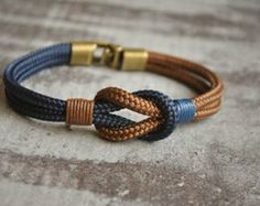 Sailor knot Nautical bracelet mens bracelet by CristinaHandmade