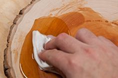 How to: Make an Easy DIY Wood Slice Serving Board | Man Made DIY | Crafts for Men | Keywords: dining, rustic, natural, kitchen