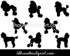 Poodle Dog Silhouette Vector