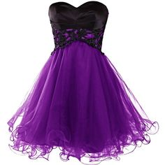 Dresstells Short Prom Dresses 2015 Homecoming Dress for Women (92 CAD) ❤ liked on Polyvore featuring dresses, homecoming dresses, purple dress, prom dresses, purple prom dresses and short cocktail dresses