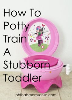 How I successfully potty trained my stubborn toddler and exactly how long it took for her to understand the concept. Great tips for working parents, too!