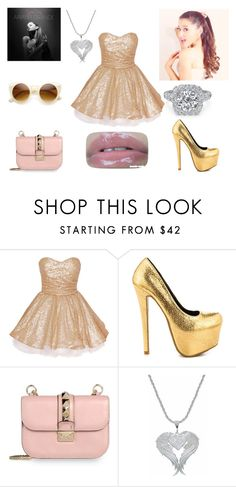 """Ariana Grande"" by carolina-otarola-xx ❤ liked on Polyvore featuring beauty, Shoe Republic LA, Valentino and Retrò"