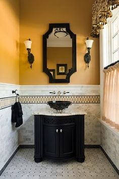 Bright and Bold Powder Room