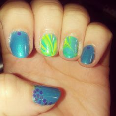 #nailart #watermarble