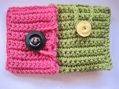 Crochet cell phone cover tutorial - Cute, inexpensive, and easy for beginner