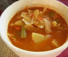 Crockpot Cabbage Soup-This is a low calorie, low fat low carb recipe. It is also Weight Watchers friendly at 2 PointsPlus+ per serving.