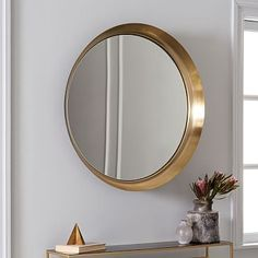 This recessed wall mirror from West Elm could potentially give your serene dentist or medical office or wellness spa waiting room the dimension and lift it needs. #heatlhcare #interiordesign #sanfrancisco
