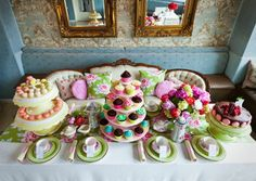 decor+for+an+elegant+tea | The springtime colors, elegant décor, and delectable pastries at this ...