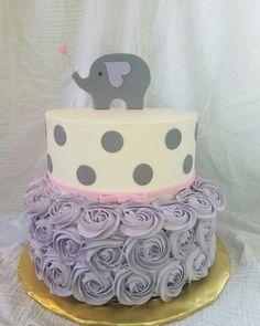 Elephant Baby Shower Cake.