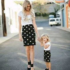 Always Sparkle Tee and Skirt Set Matching Mom and Me Look