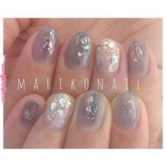 Pin by Chika on nails in 2019 Mariko Mori, Les Nails, Nail Art Diy, Nailart, Diamond Earrings, Manicure, Hair Beauty, Cosmetics, Style Nails
