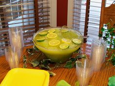Lime Punch for Two Peas in a Pod baby shower