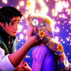 Day 15-Favorite romantic moment:when Flynn Rider and Rapunzel see the lanterns