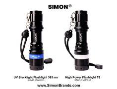 Simon Pro line of Handheld LED Flashlights and hand held LED Black Light Flashlights on Amazon and www.SimonBrands.com