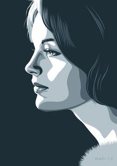 66 Ideas for concept art tutorial photoshop fantasy Portraits Illustrés, L'art Du Portrait, Vector Portrait, Digital Portrait, Portrait Ideas, Digital Art, Drawing Cartoon Faces, Cartoon Drawings Of People, Cartoon People